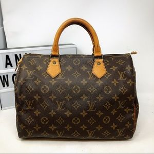 Louis Vuitton Speedy 30 Monogram Satchel Bag